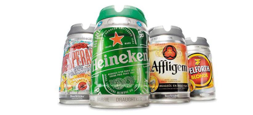 Fûts BeerTender compatibles avec une machine à bière SEB