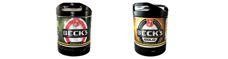 Fûts de bière PerfectDraft Beck's